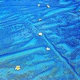 Cubierta solar resistente para lonas para la piscina del estadio/aguas termales cubierta protectora para limo y escombros para proteger el aislamiento con gomas azules (dimensiones: 3 × 3m)