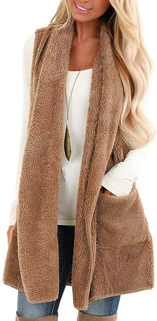 Womens Sleeveless Faux Fur Cardigan Shaggy Fluffly 2021 spring and summer new Vintage Vest Ranking TOP20