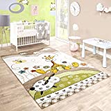 Paco Home Tapis pour Enfants Chambre D'Enfant Contours Découpés Bébé Girafe...