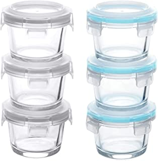 comprar comparacion GRIZZLY Recipientes de vidrio para almacenamiento de alimentos para bebés - Mini platos a prueba de horno con tapas - 6 x ...