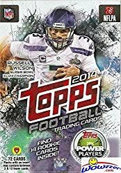 commercial 2014 NFL Topps Football Trading Cards containing 72 cards including 14 rookie cards chrome football cards
