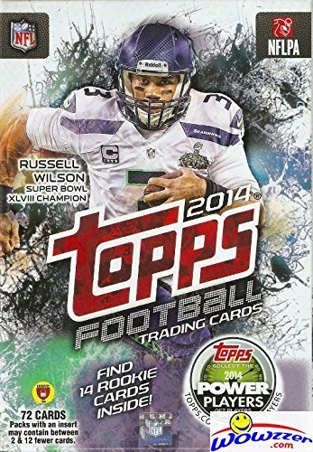 2014 Topps NFL Football Trading Cards with 72 Cards including 14 Rookie Cards