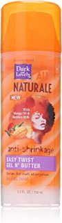 Curly Hair Products by SoftSheen-Carson Dark and Lovely Au Naturale Easy Twist Gel N' Butter, with Mango Oil and Bamboo Milk, For all Curl Types, Great for Twist Outs, Paraben Free, 5 fl oz