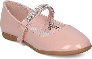 CA03 Patent Flat Mary Jane Ballerina Blush