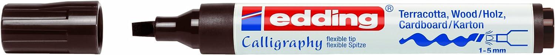 Edding e-1455 Kalligraphiestifte, Kalligraphiestifte, Kalligraphiestifte, Spitze 10 Stück 1 bis 5 mm, dunkelbraun B00BSUGK96   Günstige  12b3c5