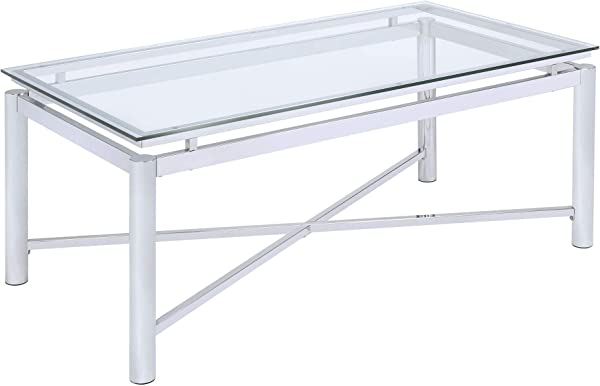 Picket House Furnishings Monroe Coffee Table In Chrome
