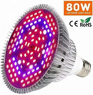 Aptech 80W LED Grow Light Bulb, 120LED Plant Bulb Full Spectrum Grow Lights for Indoor Plants Vegetables and Seedlings, Hy...