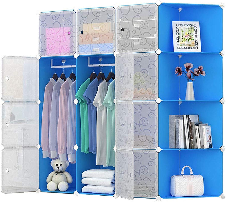 Simple wardrobe Simple Wardrobe Assembly Cube Locker Wardrobe 20 Cube Storage Box (color   A)