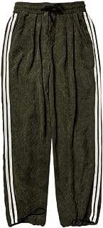 Goutique Men's Corduroy Trousers Casual Slim Fit Workout Bodybuilding Straps Active Gym Sweatpants Brief Style Pants