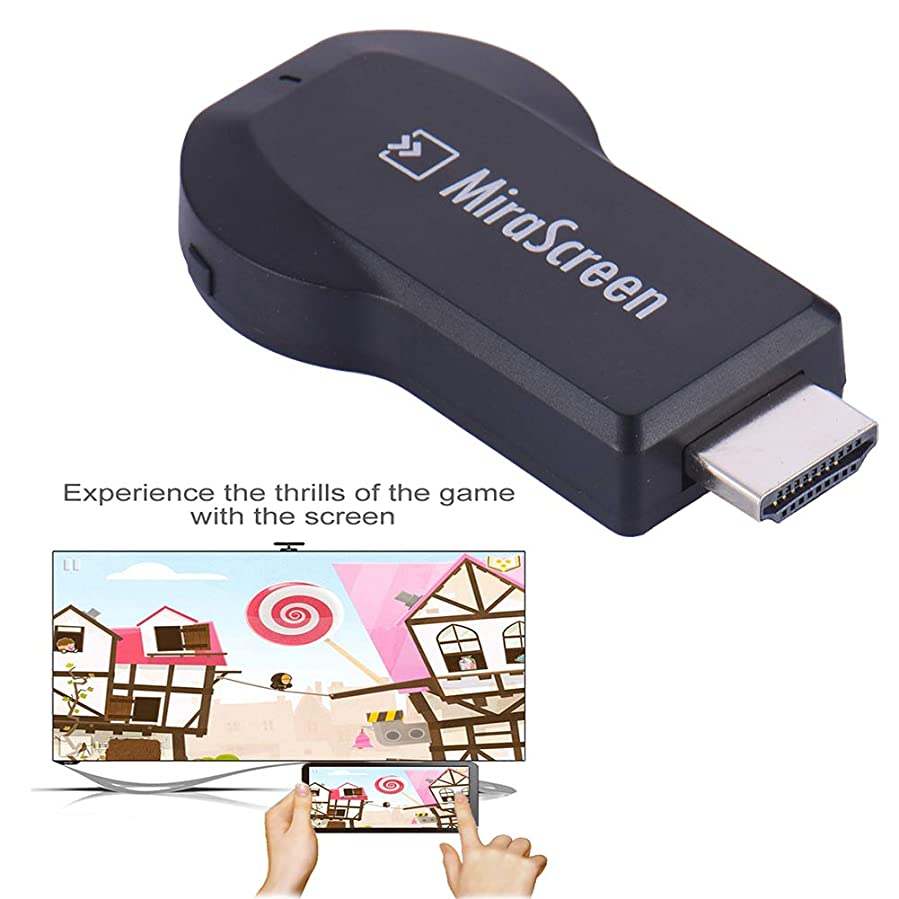 Fovolat Wireless Display Receiver HDMI Dongle, WiFi Display Dongle for iOS Android Smartphones, Windows, MacBook Laptop to HDTV Projector Monitor