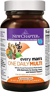 New Chapter Every Man's One Daily, Men's Multivitamin Fermented with Probiotics + Selenium + B Vitamins + Vitamin D3 + Organic Non-GMO Ingredients - 96 ct (Packaging May Vary)