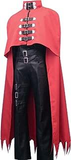 Adult Mens Black Uniform Red Cloak Costume Full Set Halloween