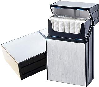 Aluminiowa papierośnica magnetyczna pokrywa elegancki projekt aluminium skrzynka na 20 papierosów, srebro (srebrny) - GB
