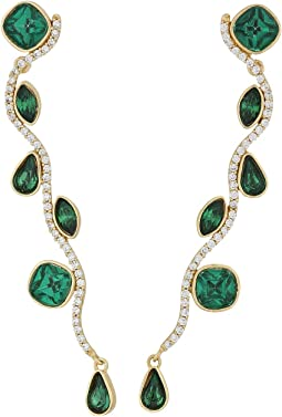 12K Soft Polish Gold/Emerald/Crystal