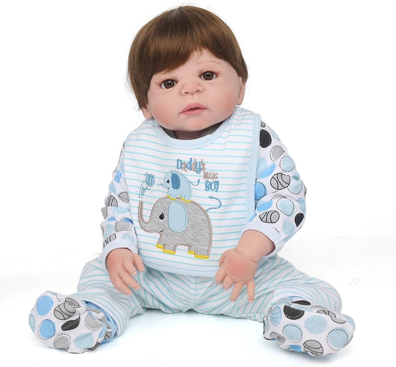 Volle Silikon Vinyl Reborn Baby Doll Realistische Handgemachte Babys Puppen 22 Zoll 55 Cm Lebensechte Kinder Spielzeug Kinder Geburtstagsgeschenk B078N4D8R5 Bequeme Berührung  | Bestellungen Sind Willkommen