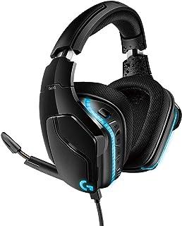 Logitech G G635 Biauricular Diadema Negro, Azul - Auriculares con micrófono (Consola de Videojuegos + PC/Videojuegos, 7.1 Canales, 7.1 Surround Sound, Biauricular, Diadema, Negro, Azul)
