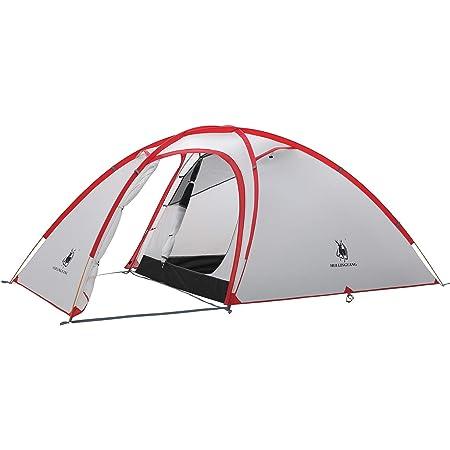 テント天幕 自立式 Hiby 2-3人用 2ルーム 超軽量 広い前室 タープスペース付き 二重層構造 アウトドア キャンプ 登山 防雨 防風 防災