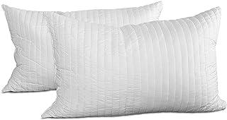 EvergreenWeb - Paire d'oreillers, 42 x 72 cm en flocons de mousse mémoire, excellents pour les douleurs cervicales, tissu ...