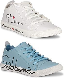 Claptrap Women Slipon Shoes (White-Blue)