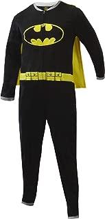 Bioworld Merchandising Men's Batman One Piece Fleece Pajama with Cape