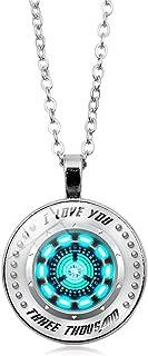 Gerophor I Love You Three Thousand 3000 Circle Necklace, Tony Stark Arc Reactor - Luxury Necklace!