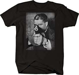 Retro Tommy Gun Gangster Mobster Thug Vintage Street Gang Suit T Shirt for Men
