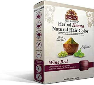 Sponsored Ad - OKAY Pure Naturals | Herbal Henna Powder Hair Color | Wine Red | All-Natural Dye | Vibrant Rich Color Pigme...