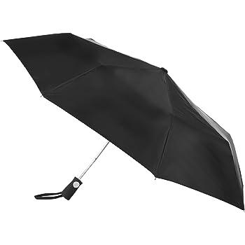 totes totesport Men's Automatic Compact Umbrella, Black