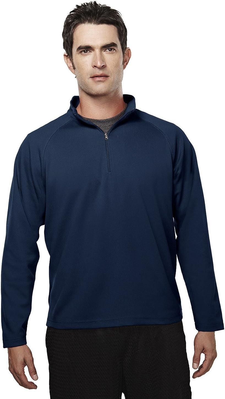 Tri-Mountain Big Mens Polyester Pique 1/4 Zip Pullover