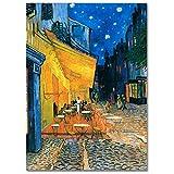 LaMAGLIERIA Póster Van Gogh Place du Forum - Lámina fotográfica - Gran Formato, 50cmx70cm