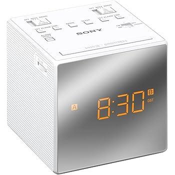 Sony ICF C1W Radio Réveil FMAM Blanc: : TV & Vidéo