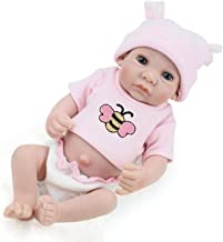 PENSON & CO. Reborn Newborn Baby Realike Doll Handmade Lifelike Silicone Vinyl Weighted Alive Doll for Toddler Gifts 10
