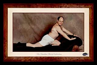 Buyartforless IF PW 46525 1.25 Black Plexi Framed George Costanza (The Timeless Seduction) -Seinfeld Tv Show 36X24 Art Print Poster Wall Decor Humor Famous Photo Pop Culture
