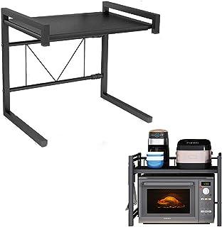 Coriver Support extensible pour four à micro-ondes à charge lourde, support d'étagère pour four à micro-ondes à hauteur ré...