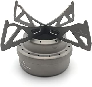 Zxmy Titanium Spirit Burner Mini Ultra-Light Alcohol Camping Stove for Outdoor Cookout Picnic Hiking