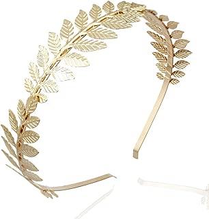 RechicGu Roman Leaf Branch Dainty Bridal Hair Crown Headband Dress Boho Alice Band