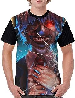 メンズ 半袖東京-喰種 Tokyo Ghoul Tシャツ 創意デザイン 原宿系 おしゃれ 男女兼用トップス 3d個性的tシャツ メンズ 夏服 おもしろtシャツトップス (吸汗速乾)