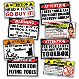 Funny Toolbox Warning Decal Sticker Tool Box Pack Set - by 215 Decals
