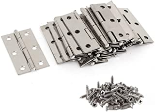 Best Liberty.20Pcs Stainless Steel Folding Hinges 3 inch Door and Window Hinges assigned 120 Screws Review