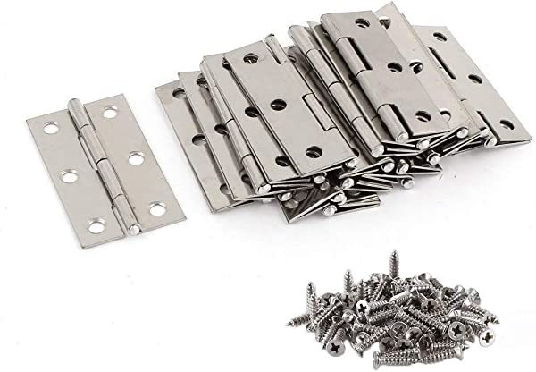 Liberty 20Pcs Stainless Steel Folding Hinges 3 Inch Door And Window Hinges Assigned 120 Screws