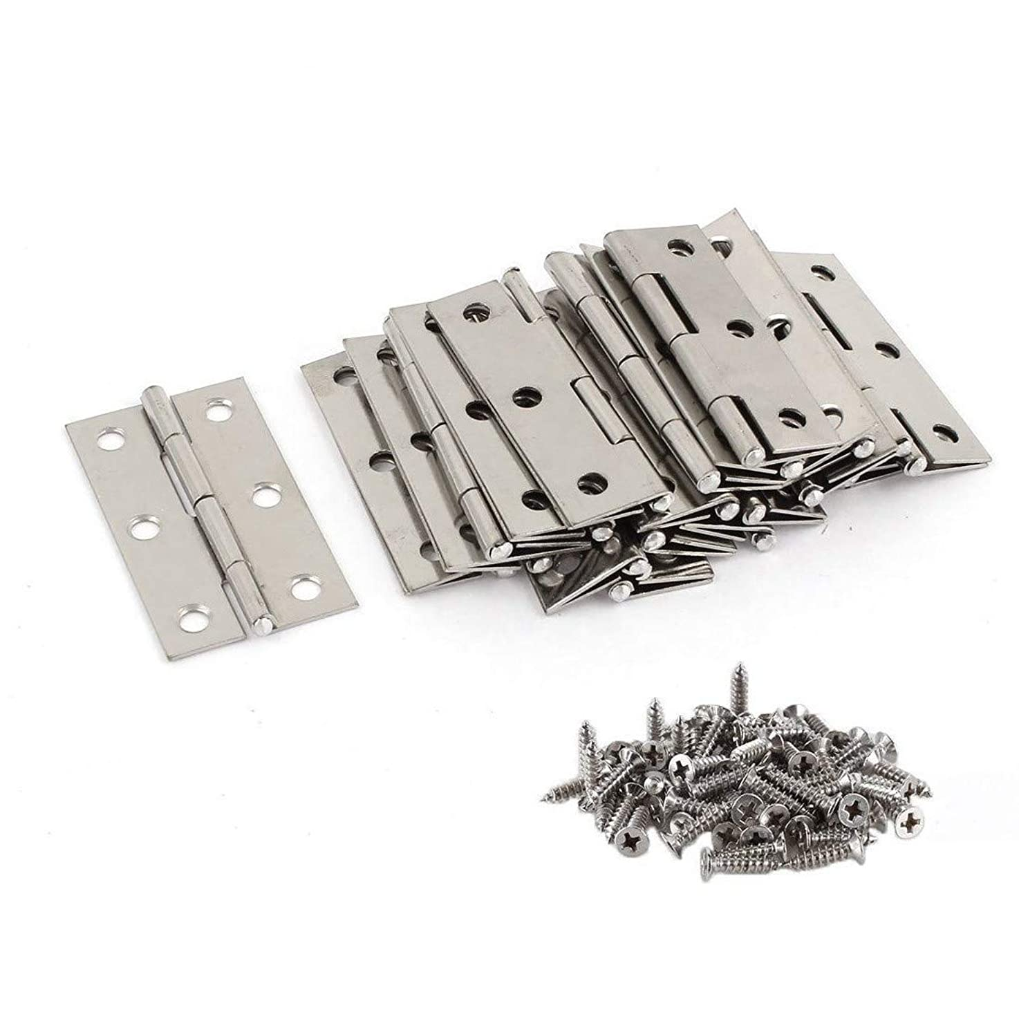 20 Stainless Steel Folding Hinges 3 inch Door and Window Hinges assigned 120 Screws