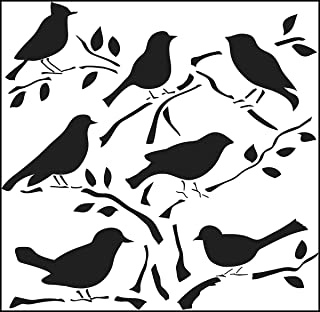 CRAFTERS WORKSHOP 453370 Template, 12 by 12-Inch, Birds