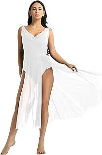 e9b96e045157d ranrann Femme Robe Danse Latine Robe Danseuse de Samba Jazz Justaucorps  Danse Tulle Robe Longue sans