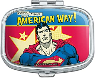 Superman The American Way Rectangle Pill Case Trinket Gift Box