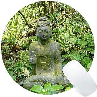 Yanteng Life Quotes Gaming Alfombrilla de ratón Redonda Personalizada, Budda Obtienes lo Que pagas Alfombrilla de ratón Re...