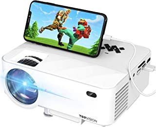 """Mini Projector, T TOPVISION Projector with Synchronize Smart Phone Screen +50% Lumens, Supported 1080P, 176"""" Display, 50,0..."""