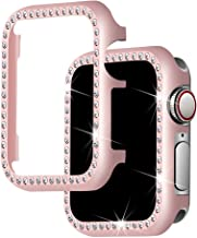 Falandi For Apple Watch Case 38mm, Apple Watch Face Case with Bling Crystal Diamonds Plate iWatch Case cover Protective Frame for Apple Watch Series 3/2/1 (Rose Gold-Diamond, 38mm)
