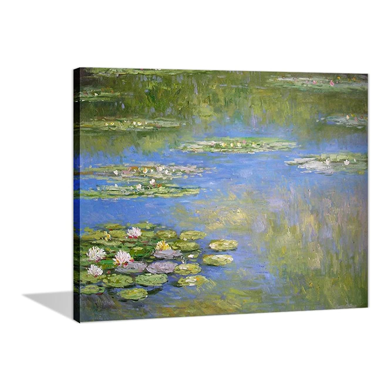 Paint by Numbers 16 x 20 inch Canvas Art Kit DIY Oil Painting for Kids/Students/Adults Beginner, Monet Water Lily