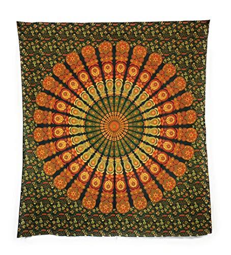 Aga's Own Indische Mandala Tagesdecke, Wandtuch, Tagesdecke Mandala Druck - 100% Baumwolle, 210x240 cm, Bettüberwurf, Sofa Überwurf (Muster 16)
