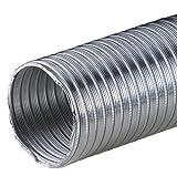 Tubo flexible de aluminio de 2,60 m y 200 mm de diámetro, resistente al calor